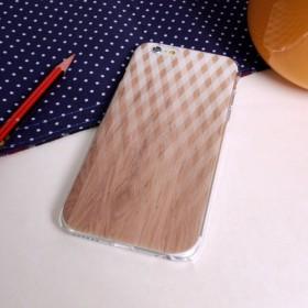 ◎iPhone透明電話透明ソフトシェル◎サムスンの携帯電話の木パターンソフトシェル◎クロス