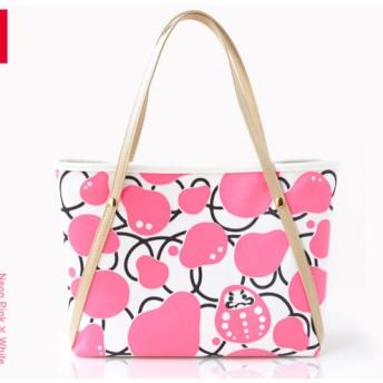 DARUMA BAG 〈 Neon pink × White 〉