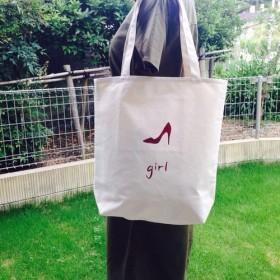 girl ロングLサイズ ロゴトートバッグ