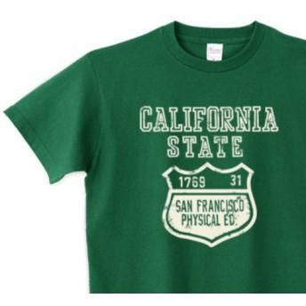 【再販】カリフォルニア ステイト カレッジ 150.160.(女性M.L) S XL Tシャツ【受注生産品】