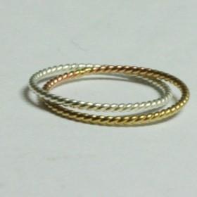 ⧜ねじねじリング brass&silver