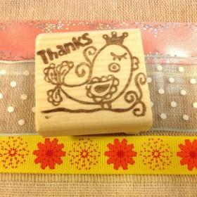 『THANKS☆BIRD』消しゴムハンコ