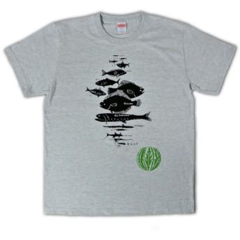 水深別お魚Tシャツ メンズ(S M L)