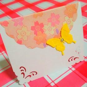 《1枚35円‼》ラインストーン付き☆メッセージカード☆15枚セット♪桜☆結婚式☆席札☆