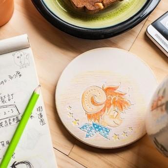 [カスタマイズされた贈り物] DIY塗装セラミック牡牡羊牡羊牡蠣少年コスター