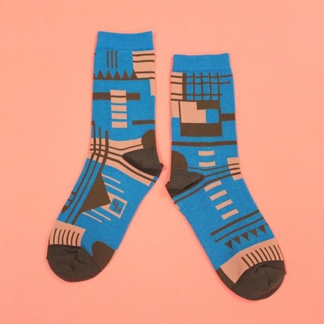 bc693f684 Parkhaus Blue Unisex Crew Socks 通販 LINEポイント最大1.0%GET | LINE ...