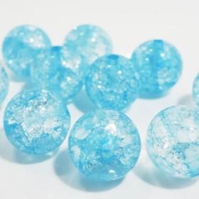 ★10粒★10mm● クラック水晶★ライトブルー●天然石