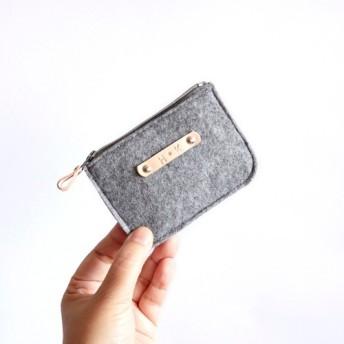 シンプルな手作りの毛布、布の財布、カスタムレザーカスタムレタリング、三色の選択