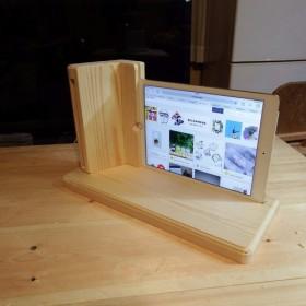 iPadAir2用スピーカー機能付スタンド横型スクエアータイプ(電源不要)送料無料