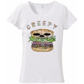 [レディースTシャツ] Creepy hamburger