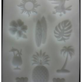 シリコンモールド 10種★トロピカル★キャンドル 粘土 石鹸 ハンドメイド