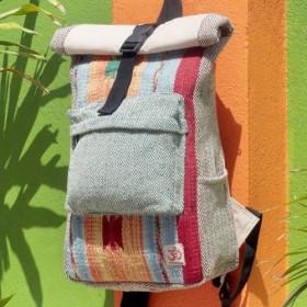 デザインのバックパック/ショルダーバッグ/エスニック登山バッグ/パッチワークバッグ後のバレンタインデー限定版手作りの綿のステッチ