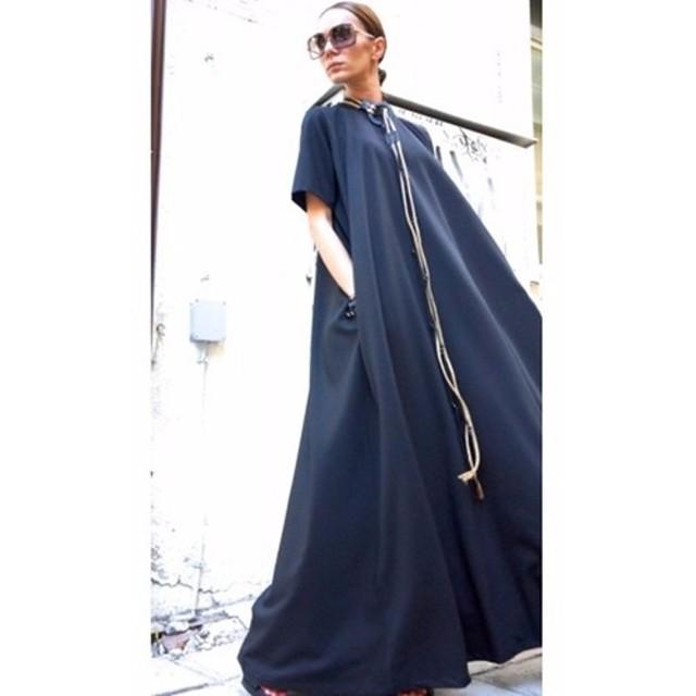 半袖 ロング丈 ワンピース ドレス 7色展開 【サイズのカスタムオーダーメイド可】