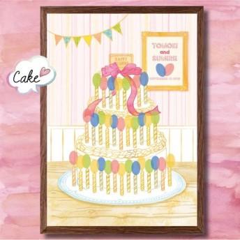 【送料無料】 ウェディングツリー 【 ケーキ サイズS 】 ウェルカムボード 結婚式 ナチュラル 可愛い