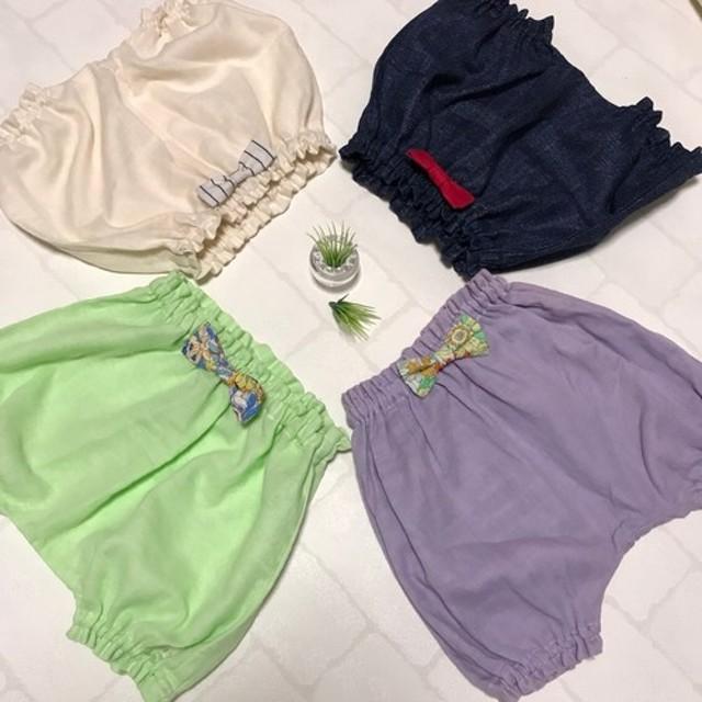 赤ちゃんに優しい国産ダブルガーゼのサルエルパンツ 春 夏 パンツ