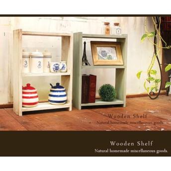 [送料無料]☆2点セット☆アンティーク風 ミニ シェルフ 木製 棚
