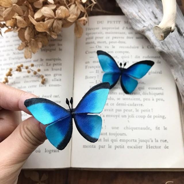 再販☆モルフォ蝶のブローチ