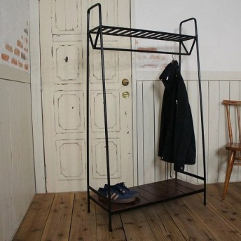 アイアン レトロな洋服掛け ハンガーラック 鉄 インダストリアル 店舗什器