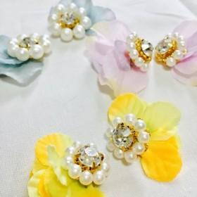 お花のイヤリング、ピアス