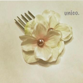 お花のコーム ホワイト