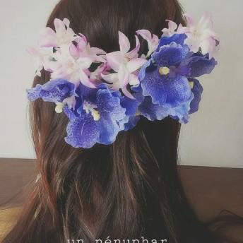 蘭の花束ヘアクリップ
