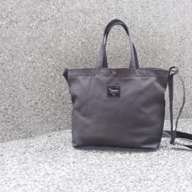 3つの単色トートバッグ付きA4 - グレー(ポータブル斜め肩のチュートリアル/書籍/メッセンジャーバッグ)
