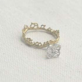 野花の指輪(真鍮)