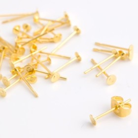 銅製品 ピアスパーツ 平皿 3mm pt-141 2000円以上で送料無料!