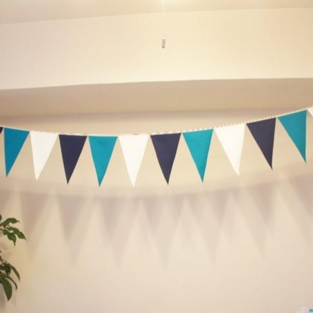 布ガーランド 290cm フラッグ 旗 結婚式 誕生日 パーティー キャンプ 飾り オーシャン