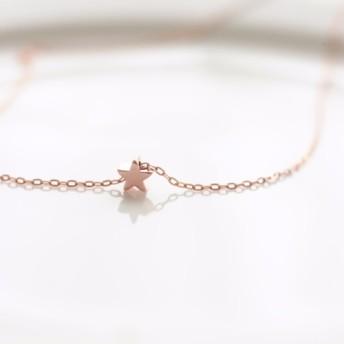 14k RoseGF ローズゴールドフィルドの☆小さな小さな星のネックレス