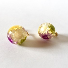 16KGP underwater flower pierce/earring