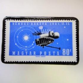 ハンガリー 宇宙切手ブローチ 2692