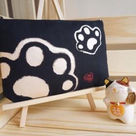 [Cat Dray] - 激安特価!キャッツパーム5枚 - (ブラック) - キャンバス収納バッグ