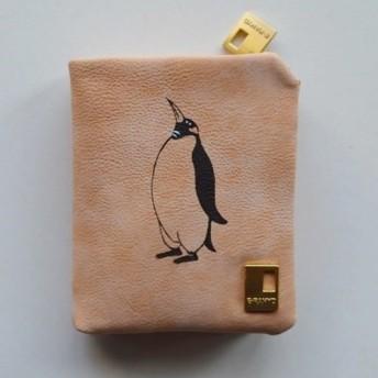 ペンギン財布、ベージュ、財布、収納力抜群のお財布!