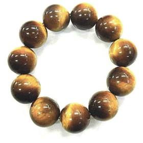 天然石 タイガーアイ20mm玉ブレスレット 内周:約18.3cm 160720335