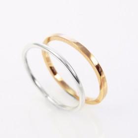 サークルライン+ライン 四辺形 指輪リング(双件組) Handmade Ring-64DESIGN