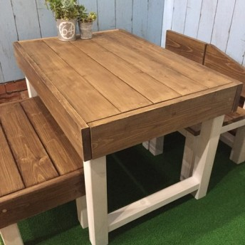 KIDS カフェテーブル&ベンチ&チェア4点セット 組み合わせ自由☆子供用