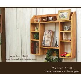 [送料無料]アンティーク風 シェルフ 木製 棚 ナチュラル