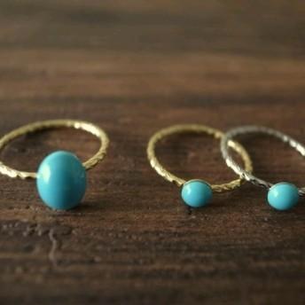 swarovski turquoise pinky ring A