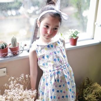 愛ロリポップ小さな襟のドレス2歳(90センチメートル) 5歳(120センチメートル)
