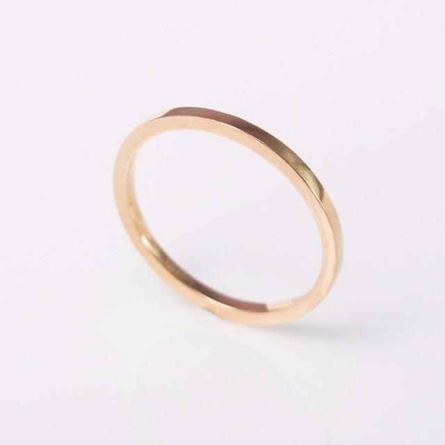ライン 四辺形 指輪リング Handmade Ring-64DESIGN