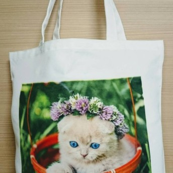かわいい猫のトートバッグ4