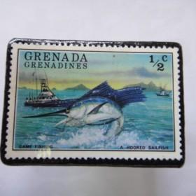 グレナダ 切手ブローチ1345
