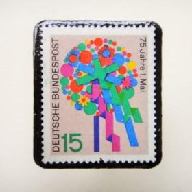 ドイツ 切手ブローチ1248