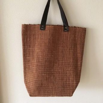 柿渋の裂織りバッグ