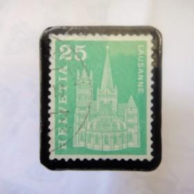スイス 切手ブローチ1510
