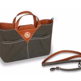 2way ハンドバッグ&ショルダー 帆布×牛革 モスグリーン A4