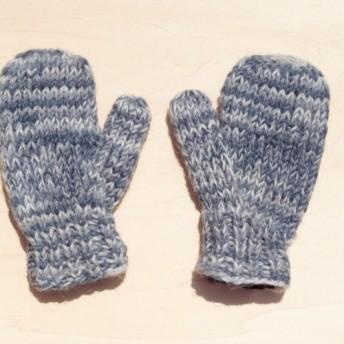 限られた手は、子供/子供の手袋のための純粋なウール暖かい手袋/手袋をニット/手袋/ミトンニット/手袋毛 - 青空ブレンディング