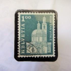 スイス 切手ブローチ1508