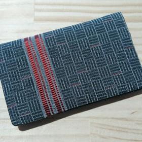 絹織物西陣織名刺・カード入れ 縦線赤